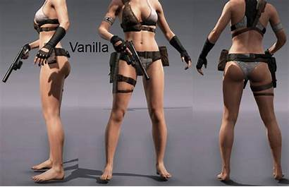 Swimsuit Female Gear Metal Mod Solid Without
