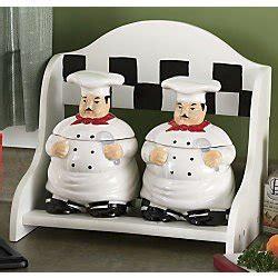 amazon com kitchen decor fat chef 2pcs jar canister set