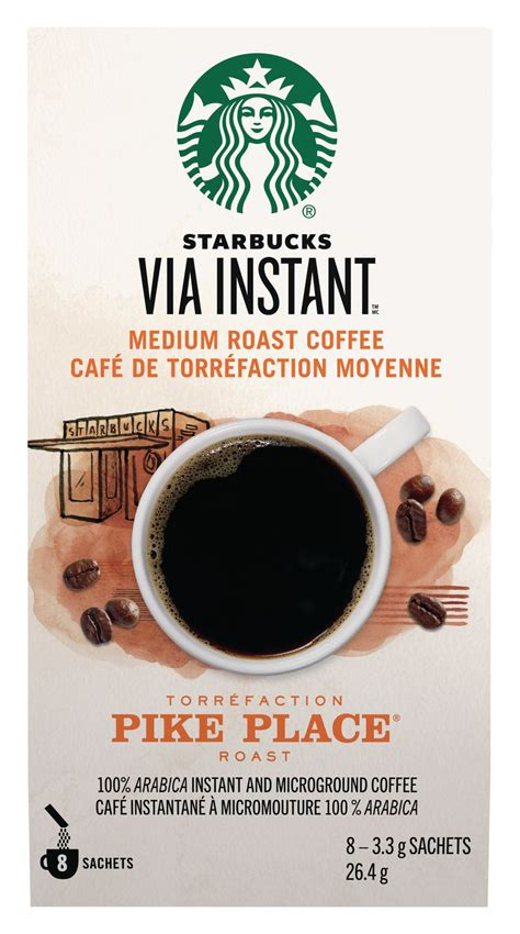 Starbucks via™ pike place® roast 350 baht the story of pike place® roast from our first store in seattle's pike place market to our coffeehouses around the world, customers requested a freshly brewed coffee they could enjoy throughout the day. Starbucks® VIA InstantTM Pike Place® 8ct | Walmart Canada