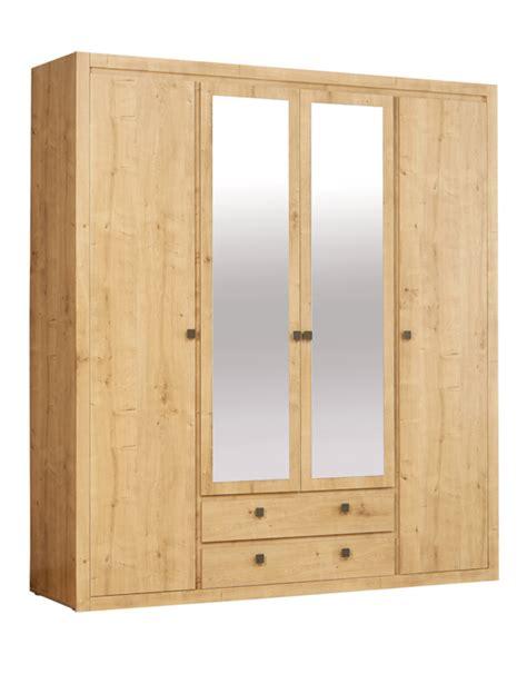 meuble armoire chambre armoire 4 portes 2 tiroirs indigo chambre a coucher chene