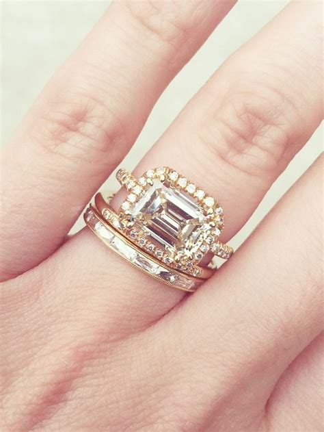 20 gorgeous wedding band and engagement ring combos whowhatwear