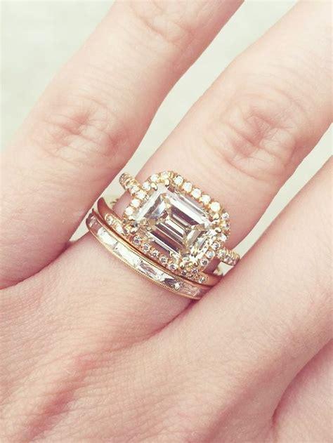 gorgeous wedding bandandengagement ring combos