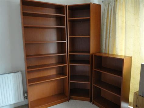 Billy Bookcase 60cm by Ikea Billy Bookcases Cherry Veneer Set Of Three
