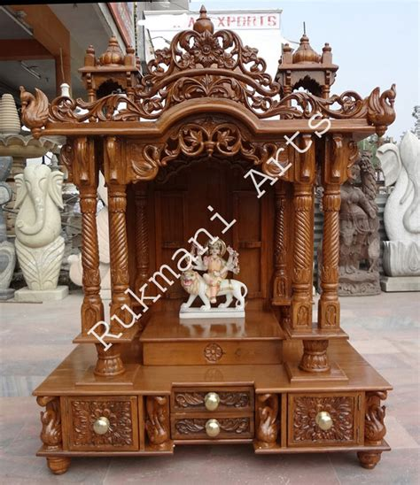 code  wooden carved teakwood temple mandir wooden