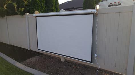 outdoor projector screen vinyl fence mounts handmade