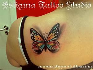 butterfly - back / shoulder TATTOO | Talented Tattoos ...