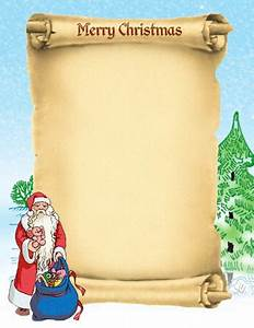 best photos of sample scroll template printable santa With scroll letter from santa