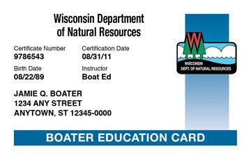 Wisconsin Dnr Boat Registration by Wisconsin Boating License Boat Safety Course Boat Ed 174