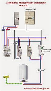 Norme Branchement Four Electrique : sch ma electrique contacteur jour nuit lectricit ~ Premium-room.com Idées de Décoration