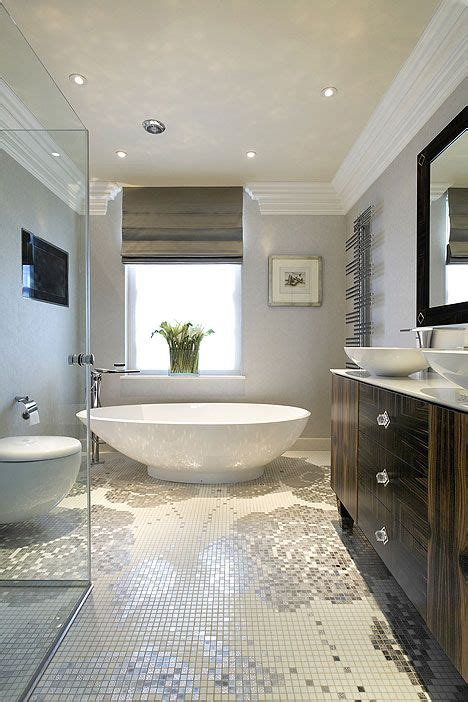 freestanding bath cool tiles modern bathroom design