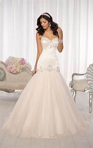 romantic beaded tulle strapless sweetheart mermaid wedding With strapless sweetheart wedding dresses