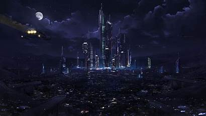 Desktop Futuristic Night 1080p Pc Future Wallpapers