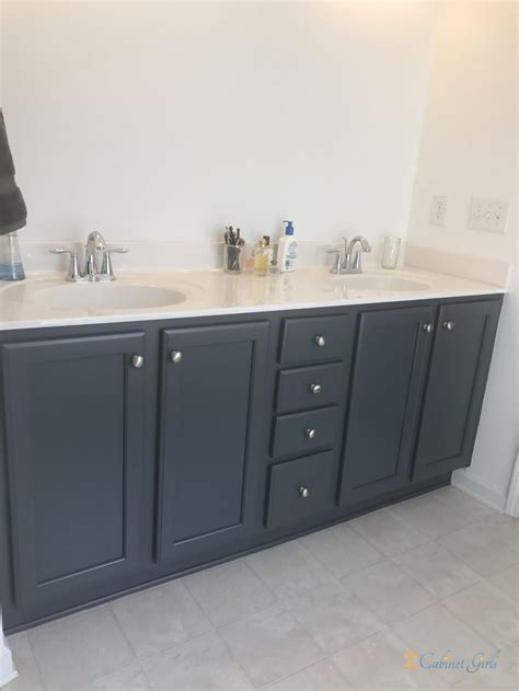 lead gray master bathroom  cabinet girls