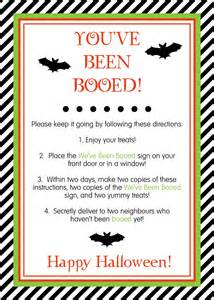 You've Been Booed Sign Printable