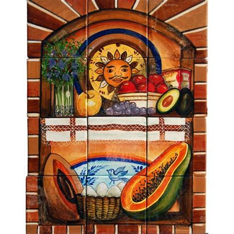 mexican style mural alacena mexican tile designs