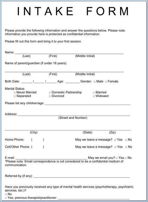 chiropractic intake forms in spanish form resume