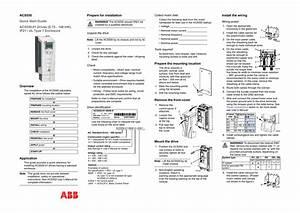 Abb Acs550 Quick Start Guide