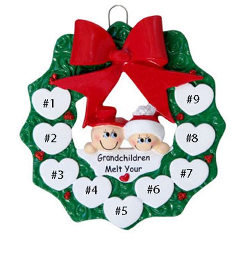 snow grandparents personalized christmas ornament