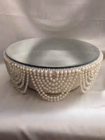 wedding cake plates pearl and crystals drape design wedding cake stand