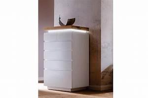 Commode Blanc Laqué : commode design blanc laqu mat 6 tiroirs cbc meubles ~ Teatrodelosmanantiales.com Idées de Décoration