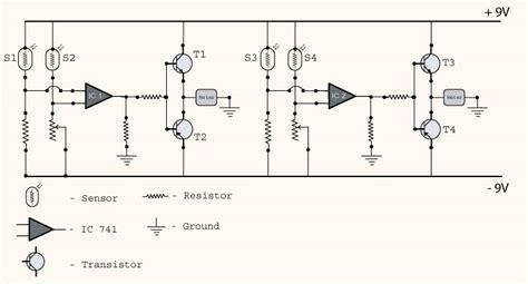 Sun Tracking Solar Panel Project Circuit Diagram