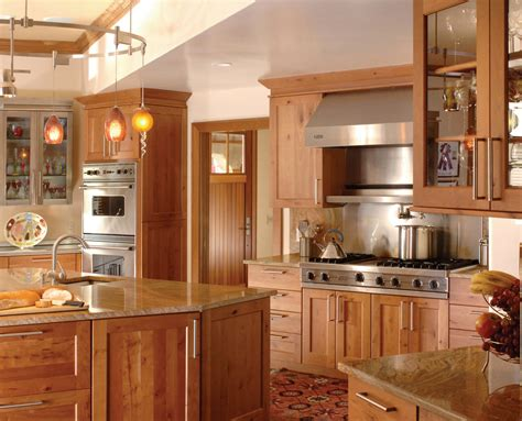 ovation cabinetry rustic alder shaker style kitchen