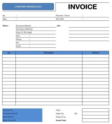 Excel Invoice Template Freelance Invoice Template Excel Templates Excel