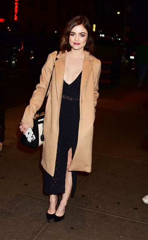 Lucy Hale Style - Out in NYC, January 2016 • CelebMafia