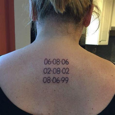ecriture pour date de naissance tatouage femme tatouage