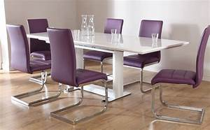 Tokyo & Perth Extending Dining Set (Purple) Only £599 99
