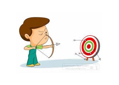 Archery Arrow Bow Clipart Target Aiming Boy