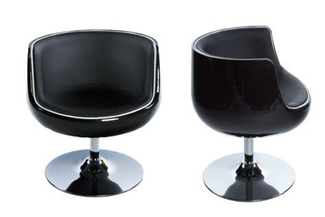 chaise fauteuil pas cher fauteuil rtro noir pivotant design mobilier design