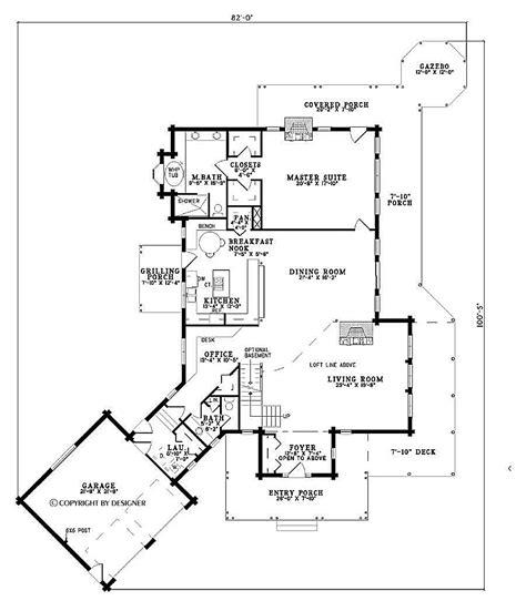 distinctive house plans cabin floor plans style house plan  beds  baths  sqft