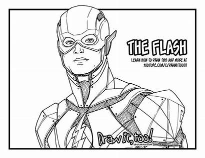 Flash Justice Draw League Drawing Coloring Too