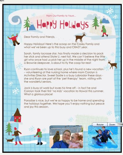 create  electronic christmas letter  smilebox