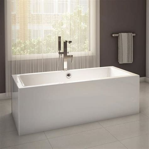 alcove bathtub wisteria rectangular freestanding