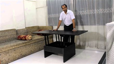 space saving end table smart space saving coffee converts to dining table 5632