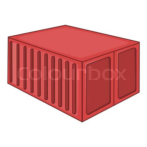 Cargo Container Icon Cartoon Illustration Of Container