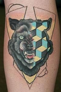 Tatouage Loup Geometrique : pin by ruairi dillon on geometric tattoos tatouage ~ Melissatoandfro.com Idées de Décoration