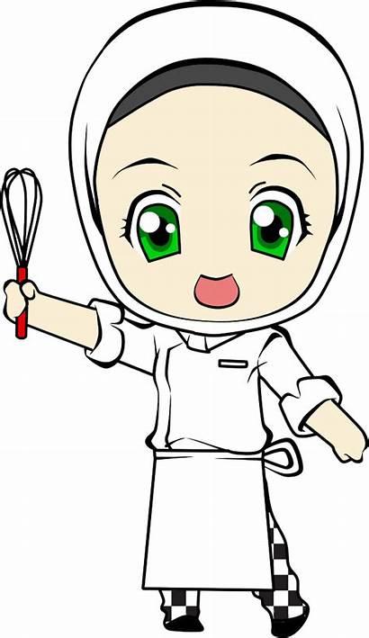 Chef Clipart Animated Cartoon Transparent Cook Hijab
