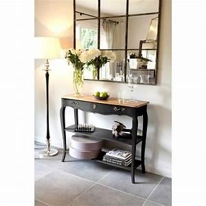 Console Murale Avec Tiroir : table console murale en bois avec plateau bois massif et ~ Teatrodelosmanantiales.com Idées de Décoration
