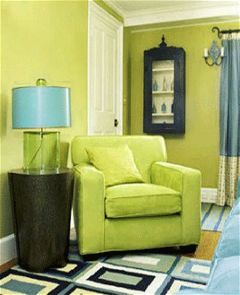 Blue Green Interior Color Schemes, Living Room Decorating
