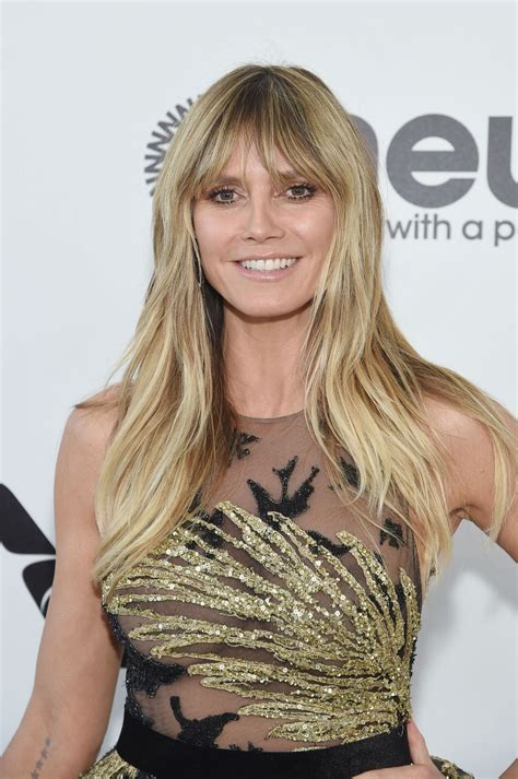 heidi klum elton john oscars viewing party