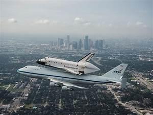 NASA - Space Shuttle Endeavour Over Houston, Texas