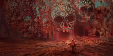 skull, Cave, Fantasy Art, Artwork, Surreal, Red Wallpapers ...