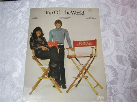 I accept the t&c and privacy policy of gaana. 1970's Vintage Sheet music Top of the World Carpenters | eBay