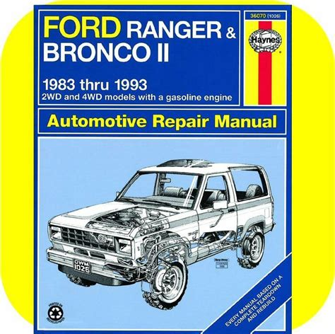 small engine maintenance and repair 1988 ford bronco ii free book repair manuals repair manual book ford ranger pickup truck bronco ii ebay