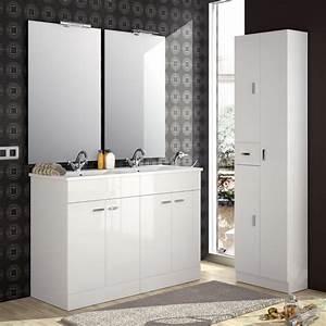 meuble de salle de bain salgar serie motril 120 cm With carrelage adhesif salle de bain avec lumiere led placard