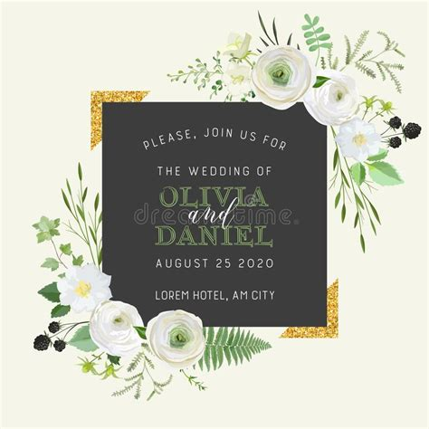 Botanical Wedding Invitation Vintage Save The Date