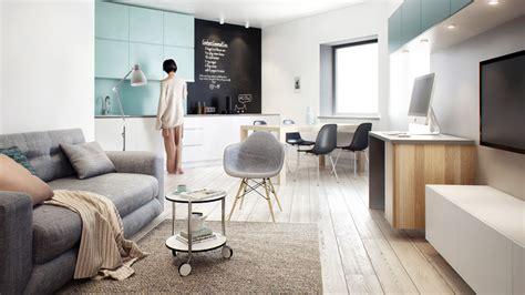 amenager petit salon avec cuisine ouverte aménagement d 39 un appartement de 60m2